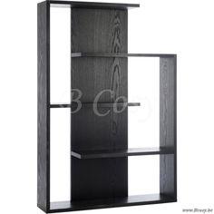 J-Line Rek met 3 schappen zig-zag zwart 100 - Rekken Opberging - BCosy Webshop Boutique Web Vente en Ligne