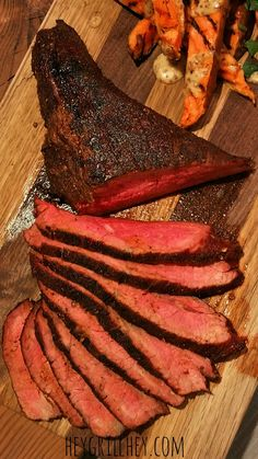 Smoky Joe Rubbed Tri Tip. Homemade coffee and chili spice rubbed then slow smoked. The best tri tip recipe ever!
