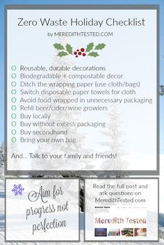 Tis the season for festive fun, parties, spending time with family and friends and trying to bring lots of light and spirit to a dark cold season. It's also the season to produce more trash t…