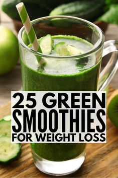 If you're looking for green smoothie recipes for weight loss like Dr. Oz's low-calorie breakfast drink, we've got you covered. These healthy, fat-burning recipes offer a great meal replacement option when you're on the go and can also compliment various cleanses as you try to detox your body to get the flat belly of your dreams. It's amazing what a blender, a tub of Greek yogurt, and a few cleaning eating ingredients can do for your waistline! #detox #cleanse #weightloss #diet #juicing