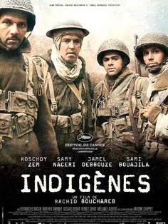 """Indigènes est un film de Rachid Bouchareb avec Jamel Debbouze, Samy Naceri. Synopsis : En 1943, alors que la France tente de se libérer de la domination nazie, le parcours de quatre """"indigènes"""", soldats oubliés de la première a"""