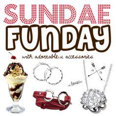 Sundae Funday ice cream adornable.u party Sunday