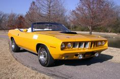 "Plymouth Barracuda Convertible - ""Cuda""- I love this one too..... I'll just take any of the convertibles"
