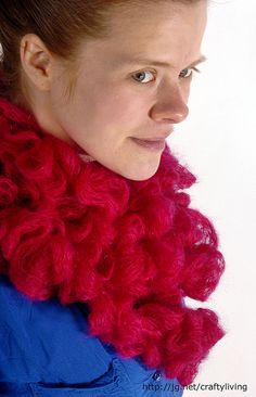 Math4Knitters, Crafty Living: Show 122 features a chat with Elizabeth Green Musselman and a free pattern for this Feather-Free Boa. Get it all at journalgazette.net/craftyliving starting on April 29, 2012. Photo by Laura J. Gardner - The Journal Gazettte.