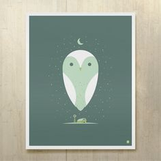 Barn Owl Print 16x20 from Jeff Barfoot and Shay Ometz co-founders of bee things, $35, now featured on Fab.