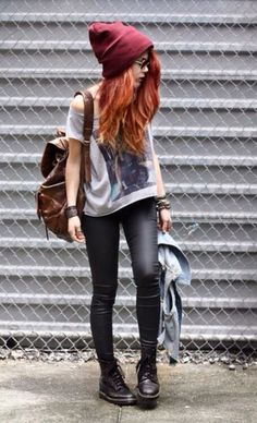 amazing-fashion-designs-with-fashion-style-grunge-with-pants-black-leather-fashion-sexy-hipster-grunge-girl-shirt.jpg (371×610)