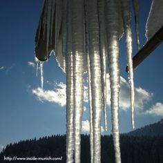 Icicles create a majestic atmosphere in Winter. Come visit our website at http://www.inside-munich.com/