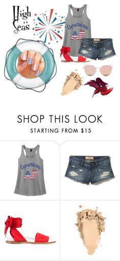 """High Seas Nails"" by brooke-paganelli on Polyvore featuring Hollister Co., Marques'Almeida, Stephane + Christian and nails"