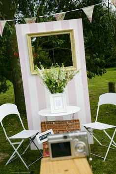 English summer fete wedding photobooth. home made photo booth.wedding photography by www.ashdownweddingphotography.co.uk