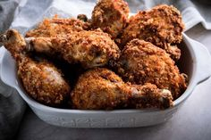 A keto fried chicken recipe that even Colonel Sanders would love! An oven-fried, no carb chicken recipe to curb your craving for breaded chicken!