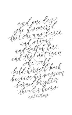 Mark Anthony, calligraphy quote, handlettering