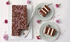 Jos osaat leipoa mokkapaloja, onnistuu tämä kakku takuuvarmasti