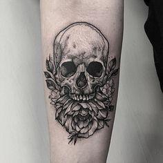 46 Best Flower Skull Tattoos Images Skull Sugar Skull Tattoos