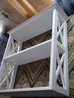 Полка этажерка белая под стиль прованса