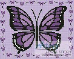 Free Butterfly Cross Stitch Patterns | butterfly more designs by tereena clarke little purple butterfly ...