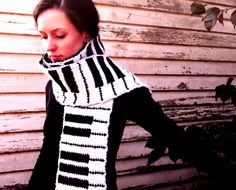 Piano scarf from Etsy. Ask your Grandma - maybe she will knit one for you. :-) #diy #music