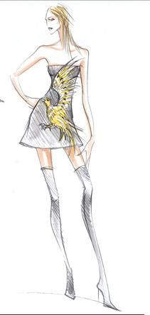 Antoine Kruk 4 Roberto Cavalli eagle dress