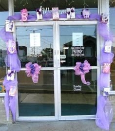 "Paint The Town Purple for Relay for Life...gift boxes spell ""More Birthdays"""