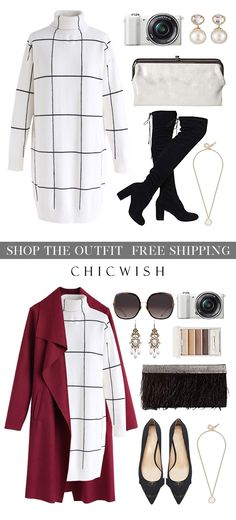 Warm Welcome Grid Turtleneck Sweater Dress Business Casual Outfits, Classy Outfits, Chic Outfits, Fashion Outfits, Work Fashion, Modest Fashion, Fall Winter Outfits, Autumn Winter Fashion, Winter Stil