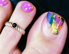 Toenail Designs For Pedicure | Colorful Toe Nail Art (1)