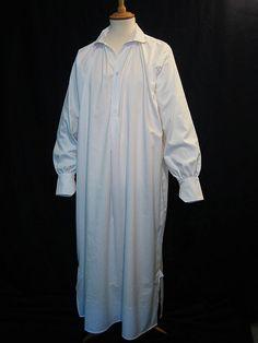 A Victorian gentleman's nightshirt. Imagine how uncomfortable this must have felt