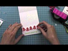 Lawn Fawn Let it Snow, Fa-La-La 6x6 paper pad and Fa-La-La Element Stickers  How to make a gift card holder