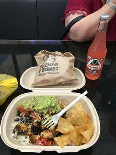 A meal from Guzman Y Gonez restaurant at Pacific Werribee in the Urban Diner area