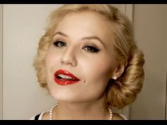 1950's make up tutorial. (how to do red lips right!) I'm using this for Christmas parties!