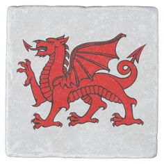 Shop Y Ddraig Goch (Welsh Red Dragon) Coaster created by AllThingsCeltic. Welsh Dragon, Celtic Dragon, Celtic Art, Welsh Tattoo, Medieval Paintings, Wood Burning Patterns, Architecture Tattoo, Green Dragon, Funny Tattoos