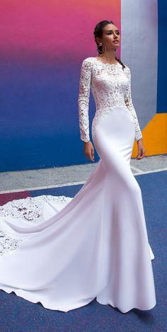 Wonderful Perfect Wedding Dress For The Bride Ideas. Ineffable Perfect Wedding Dress For The Bride Ideas. Long Sleeve Wedding, Long Wedding Dresses, Wedding Dress Styles, Designer Wedding Dresses, Bridal Dresses, Wedding Gowns, Lace Wedding, Long Dresses, Wedding Simple