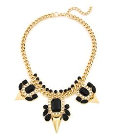 The Enemy Necklace - Black and Gold