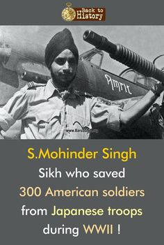 Mohinder Singh- Sikh who saved 300 American soldiers from Japanese troops during WWII! Share & Spread to let the WORLD know! Gurbani Quotes, Sikh Quotes, Guru Nanak Wallpaper, Military Careers, Lily Chee, Bravest Warriors, Motivational Images, History Of India, Gernal Knowledge