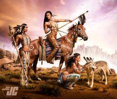 Native Warrior Women by Jeffach on DeviantArt American Indian Girl, Native American Girls, Native American Pictures, Native American Beauty, Native American Tribes, Warrior Girl, Warrior Women, Indian Horses, Native American Warrior