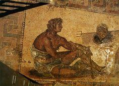 Gladiator mosaic from Zeugma, Turkey.