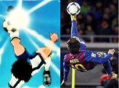 Messi like Tsubasa