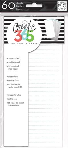 Note Paper - Half Sheet for The Happy Planner™ | me & my BIG ideas