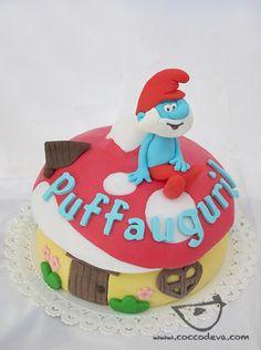 the smurfs cake!