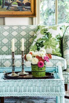 Tour a Family Home With Maximalist Southern Style | HGTV Family Room, Home And Family, South Carolina Homes, Farm Pictures, Touch Of Gray, Bentwood Chairs, Countertop Materials, Wabi Sabi, Old Houses