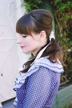The 1960's Mini Bouffant with Fox & Doll and Fancy Fine from @Ashley Ording and @shanaastrachan #vintagehair