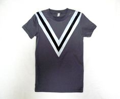 Deep V Asphalt Tee by jessalinb on Etsy $25.00