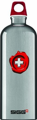 Sigg Lifestyle Loop Top Water Bottle (1.0-Liters, Swiss Quality, Aluminum) by Sigg. $19.58. SIGG Swiss Quality Bottle 1.0L Proprietary Liner: baked-on, water-based epoxy resin; exceeds FDA requirements; flexible and crack resistant; resists fruit acids and isotonic drinks Exterior: solvent-free, eco-friendly, powder-based coating Closure: leak-proof and interchangeable from one SIGG to the next Twist top Extruded from single piece of pure aluminum for no seams Le...