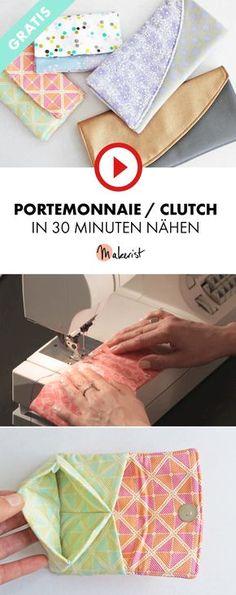 Portemonnaie oder Clutch nähen lernen in 30 Minuten - Makerist auf Youtube #nähenmitmakerist #nähen #nähanleitung #schnittmuster #schnitt #pdfschnitt #pdfpattern #nähenmachtglücklich #nähenistwiezaubernkönnen #nähenisttoll #sewing #sew #sewingproject #sewingpattern #diy #diyproject #portemonnaie #clutch