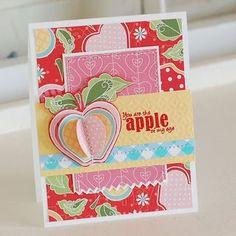 Apple of My Eye Card by @Betsy Veldman #Bazzill #patternedpaper