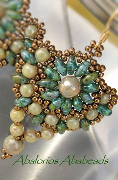Abalorios Ababeads--Druk Beads de 6mm y 4mm Opal Champagne Picasso y Superduos