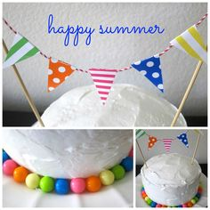 this is happiness: happy summer easy cake decoration