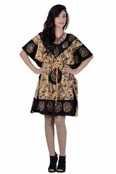 KAFTAN ETHNIC WOMEN HAND BLOCK PRINTED COTTON KAMEEZ TOP CASUAL WEAR KURTA IWUS #Handmade #Western #Casual