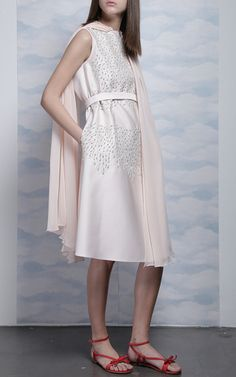 Sequin embellished cape dress by Dice Kayek