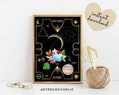 SAGITTARIUS Astrology Wall Art,Horoscope Cards, Zodiac Print,Tarot Cards,Star Sign,Digital Download, Astrology Print,Printable,Constellation