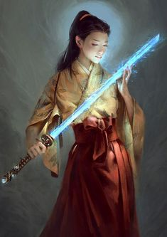 Le Vuong in Legends of the Five Rings by Kai on Kai Fine Art 149x210mm Character Illustration, Illustration Art, Illustrations, Shadow Warrior, Warrior 3, L5r, Fantasy Girl, Japanese Art, Beautiful Words