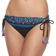 Women's Apt. 9® Embroidered Hipster Bikini Bottoms, Ovrfl Oth